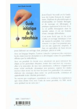 Guide initiatique de la radiesthésie