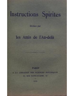 INSTRUCTIONS SPIRITES DICTEES PAR LES AMIS DE L'AU-DELA